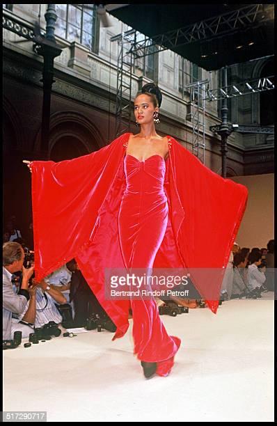Balmain Haute Couture fashion show fall winter 1991 1992 collections in Paris