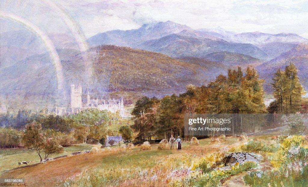Balmoral Castle and Lochnagar by Ebenezer Wake Cook