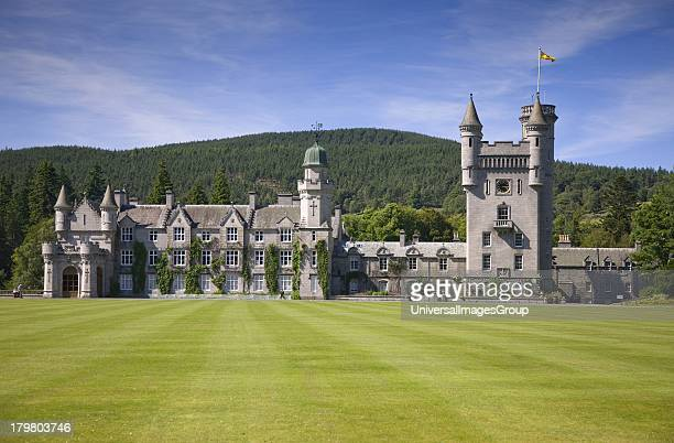 Balmoral Castle residence of the British Royal Family since 1852 Royal Deeside Aberdeenshire Scotland United Kingdom