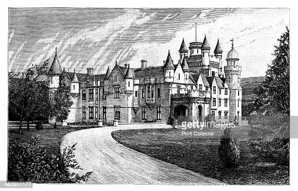 Balmoral Castle Scotland The royal residence of Balmoral from the south west engraving from a photograph Illustration from The Life Times of Queen...