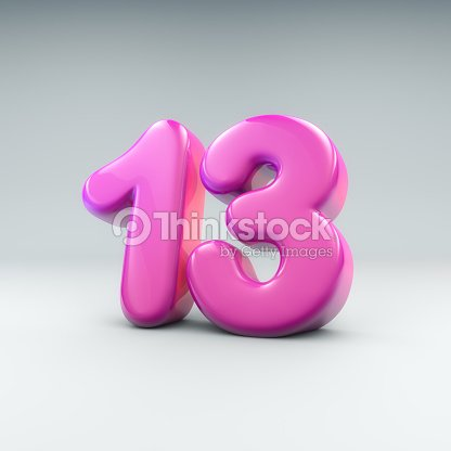 Baloon number 13 : Stock Photo