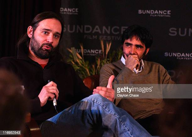 Baltasar Korma'Kur and Carlos Bolado during 2006 Sundance Film Festival Conversations at the Lodge at Filmmakers Lodge in Park City Utah United States