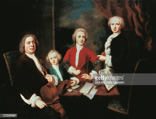 Balthasar Denner Johann Sebastian Bach with his Sons 1730