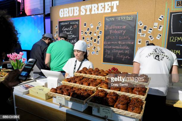 Balthazar Bakery sticky buns available in the ATT Vulture Lounge during the 2017 Vulture Festival at Highline Stages on May 21 2017 in New York City