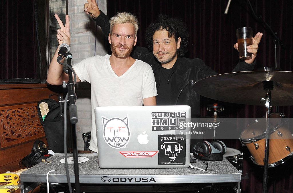 Balthazar Getty and Asdru Sierra of ABSTRAKTO perform at the Balthazar Getty and Spotify present a Night with PurpleHaus Music event on October 7...