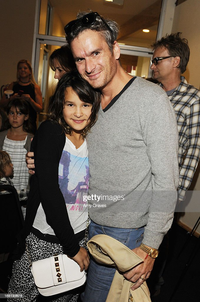<a gi-track='captionPersonalityLinkClicked' href=/galleries/search?phrase=Balthazar+Getty&family=editorial&specificpeople=225043 ng-click='$event.stopPropagation()'>Balthazar Getty</a> (R) and daughter Grace Getty attend Pregnancy Awareness Month 2013 Kick-Off Event Celebrating Dad's Role in Pregnancy at Bergamot Station on May 5, 2013 in Santa Monica, California.