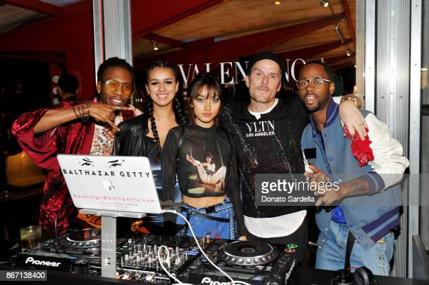 Balthazar Getty and guests attend Valentino VLTN Maxfield pop up store opening at Maxfield on October 26 2017 in Los Angeles California