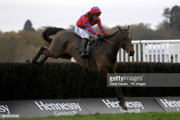 Balthazar King ridden by Barry Hawkins during The Hennessy Gold Cup Chase