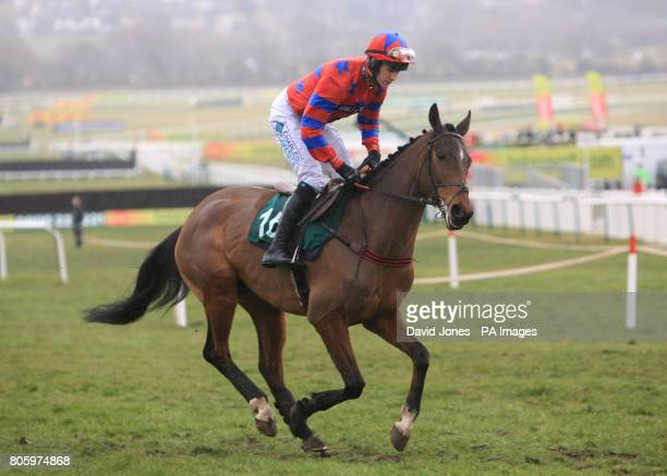 Balthazar King ridden by Rhys Flint going to post for the Martin Pipe Conditional Jockeys' Handicap Hurdle