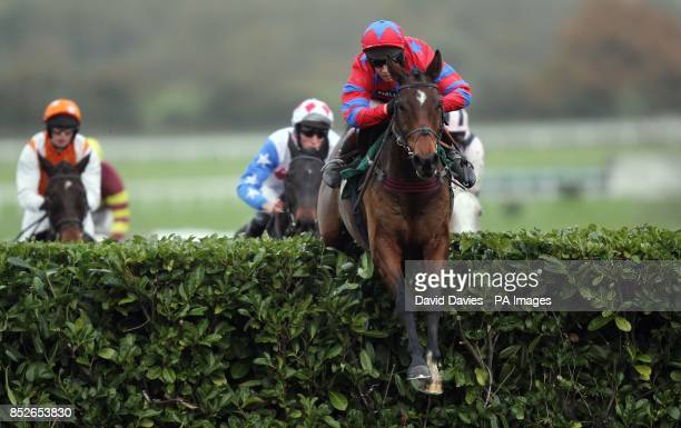 Balthazar King ridden by Richard Johnson on their way to victory in the Glenfarclas Cross Country Chase during The Open Festival at Cheltenham...