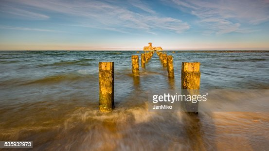 Baltic sea at beautiful landscape : Stock Photo