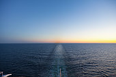 Baltic Sea, Cruise ship travelling between Russia and Finland
