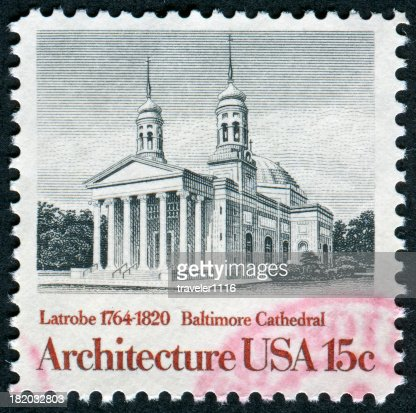 Baltimore Cathedral Stamp