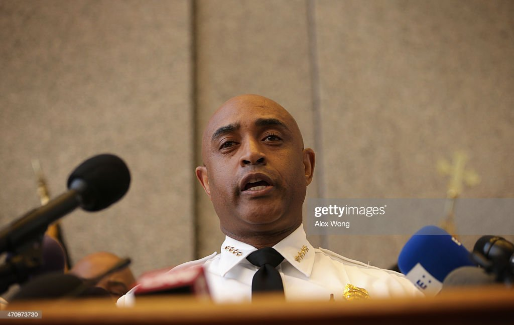 Baltimore City Police Commissioner <a gi-track='captionPersonalityLinkClicked' href=/galleries/search?phrase=Anthony+Batts&family=editorial&specificpeople=10860418 ng-click='$event.stopPropagation()'>Anthony Batts</a> speaks during a news conference at the police headquarters April 24, 2015 in Baltimore, Maryland. Batts spoke on the latest development of the death of Baltimore resident Freddie Gray one week after being under custody in a police van. Gray, 25, had been arrested for possessing a switch blade knife April 12th outside the Gilmor Homes housing project on Baltimore's west side. According to his attorney, Gray died in the hospital from a severe spinal cord injury.
