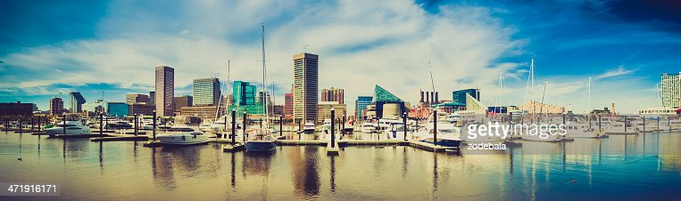 Baltimore Harbor Cityscape, Maryland, USA