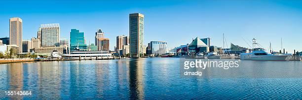 Porto interno di Baltimora con riflessi Panorama