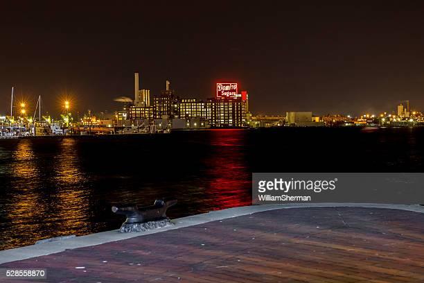 Baltimore Maryland Inner Harbor, Domino Sugar Sign