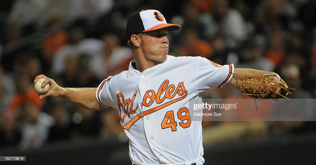 Baltimore Orioles' rookie Dylan Bundy pitched in the 9th inning against the Toronto Blue Jays at Oriole Park Camden Yards in Baltimore, Maryland, Tuesday, September 25, 2012.
