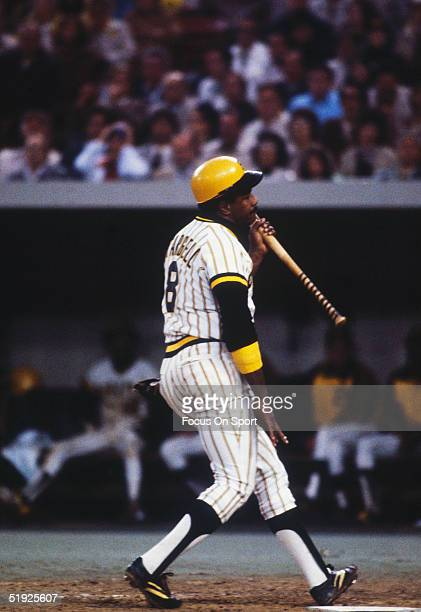 Baltimore Orioles' short stop Willie Stargell walks to the dugout unhappy with his batting during the World Series against the Pittsburgh Pirates at...