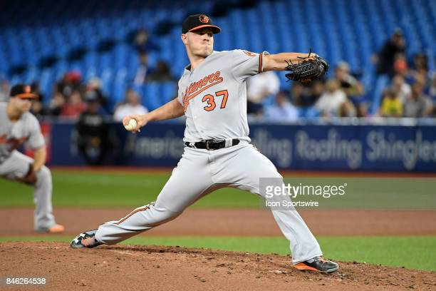 Baltimore Orioles Starting pitcher Dylan Bundy pitches during the regular season MLB game between the Baltimore Orioles and Toronto Blue Jays on...