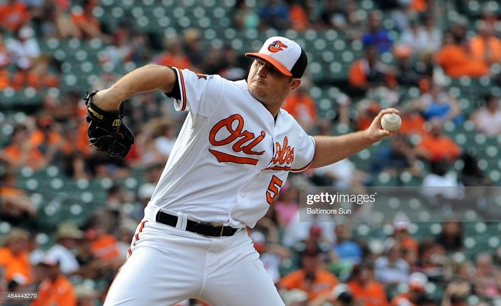 Baltimore Orioles' Zach Britton pitches against the Minnesota Twins on Sunday, Aug. 31, 2014, at Camden Yards in Baltimore.