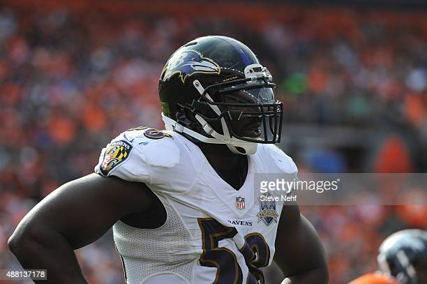 Baltimore Ravens defensive end Elvis Dumervil at Sports Authority Field at Mile High on September 13 2015