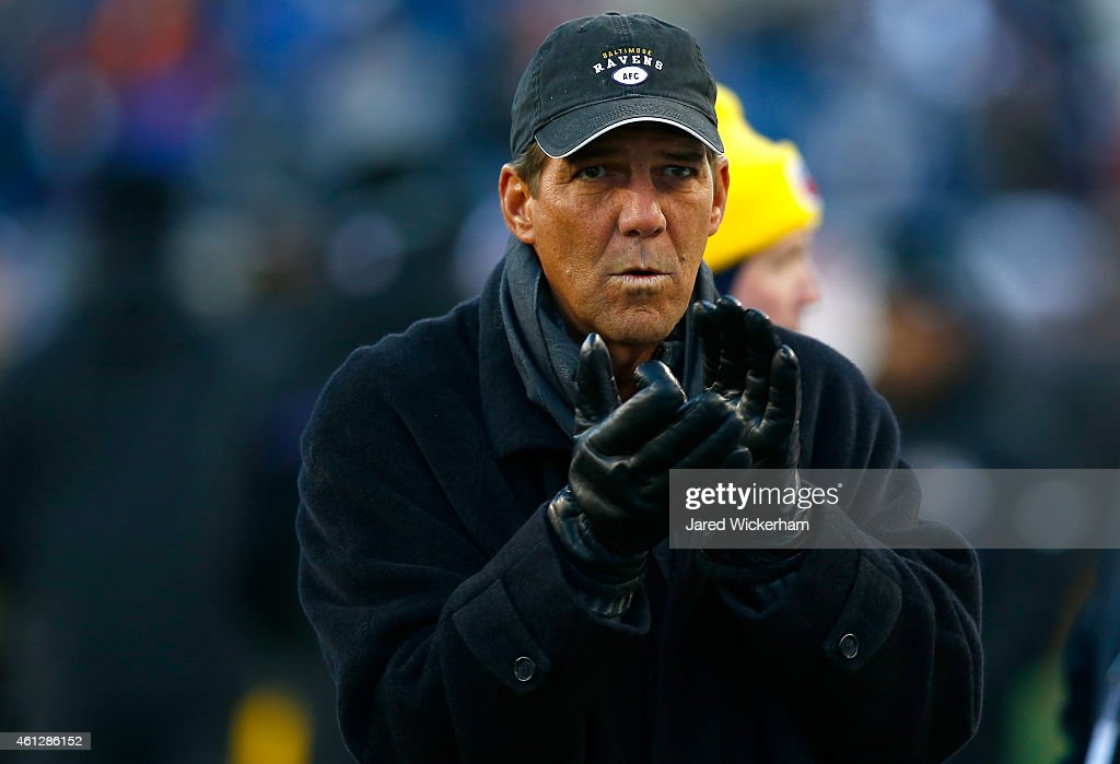 Baltimore Ravens owner <a gi-track='captionPersonalityLinkClicked' href=/galleries/search?phrase=Steve+Bisciotti&family=editorial&specificpeople=3079316 ng-click='$event.stopPropagation()'>Steve Bisciotti</a> looks on before the 2014 AFC Divisional Playoffs game against the New England Patriots at Gillette Stadium on January 10, 2015 in Foxboro, Massachusetts.