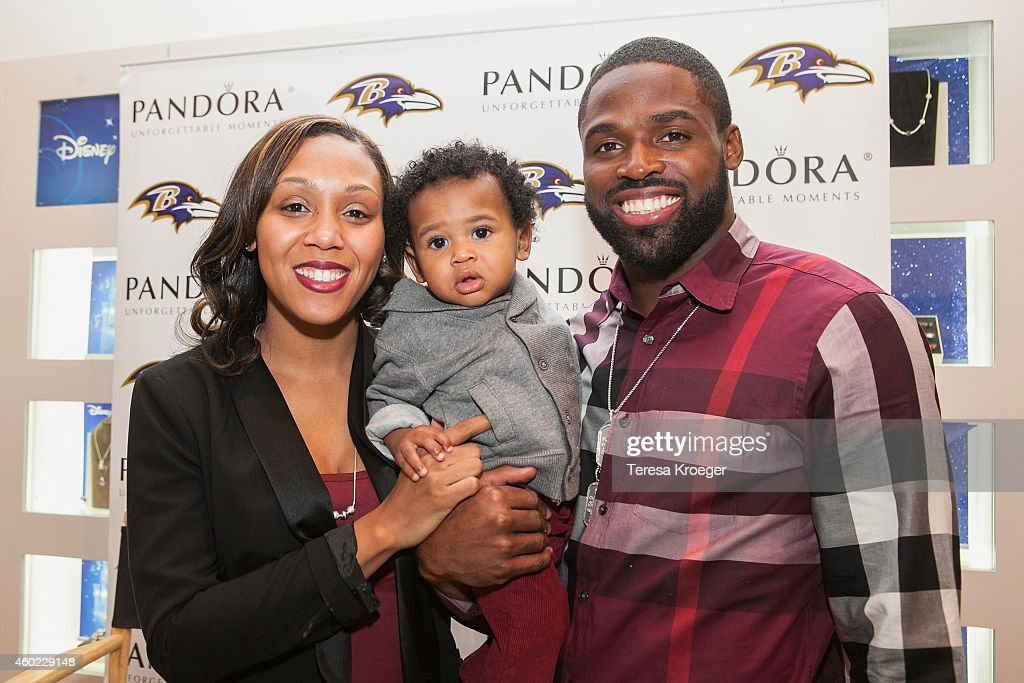 PANDORA Jewelry In-Store Event With Torrey Smith And Wife Chanel Smith