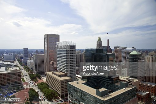 Baltimore Skyline Aerial View