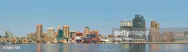 Baltimore skyline and Inner Harbor panoramic
