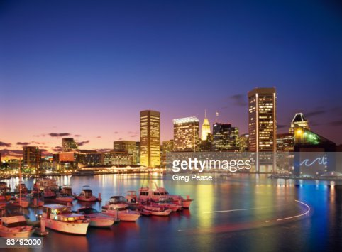 Baltimore Skyline and Inner Harbor  : Stock Photo
