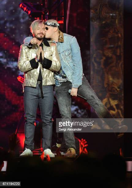 Balvin and Sky perform onstage at the Billboard Latin Music Awards at Watsco Center on April 27 2017 in Coral Gables Florida
