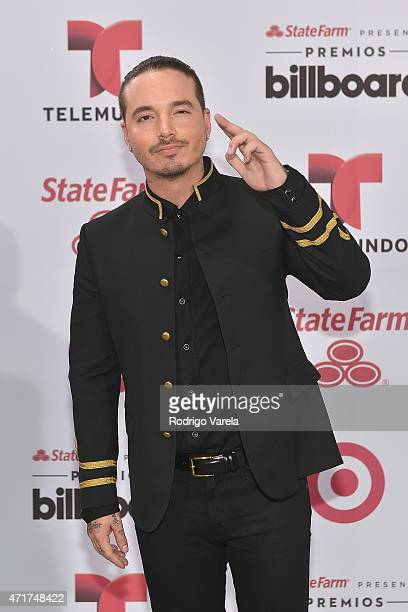 Balvin arrives at 2015 Billboard Latin Music Awards presented bu State Farm on Telemundo at Bank United Center on April 30 2015 in Miami Florida