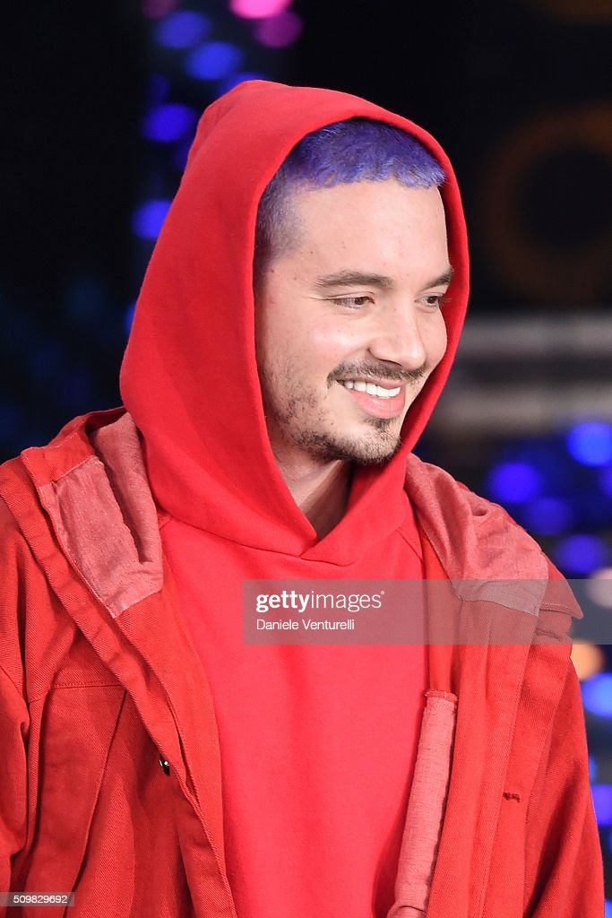 <a gi-track='captionPersonalityLinkClicked' href=/galleries/search?phrase=J+Balvin&family=editorial&specificpeople=9568411 ng-click='$event.stopPropagation()'>J Balvin</a> attends the fourth night of the 66th Festival di Sanremo 2016 at Teatro Ariston on February 12, 2016 in Sanremo, Italy.