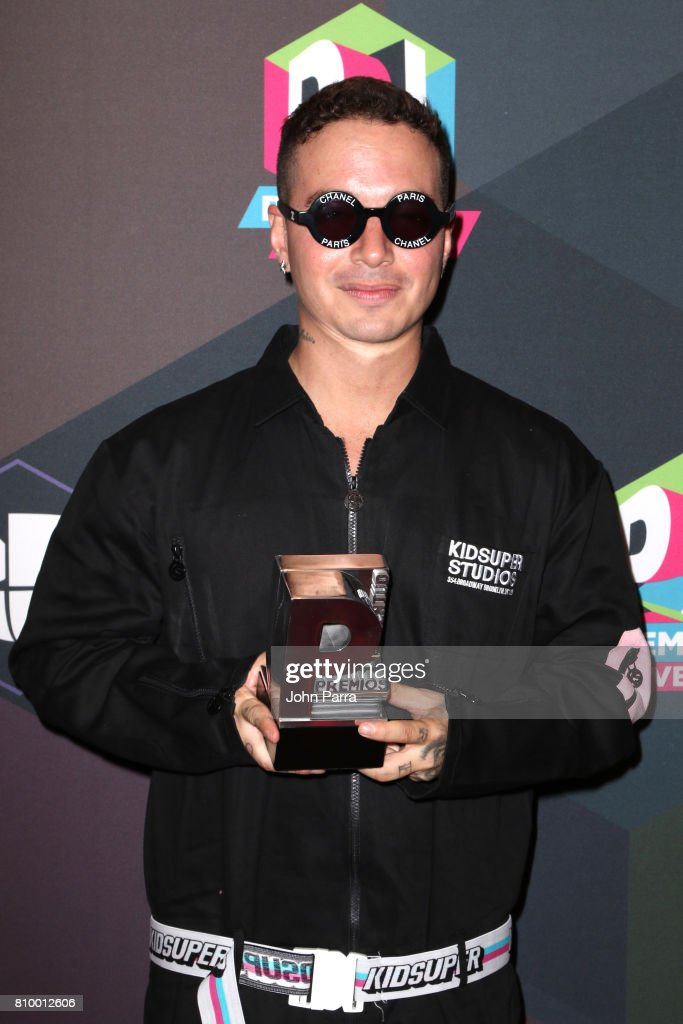 J Balvin attends the Univision's 'Premios Juventud' 2017 Celebrates The Hottest Musical Artists And Young Latinos Change-Makers - Media Center at the Watsco Center on July 6, 2017 in Coral Gables, Florida.
