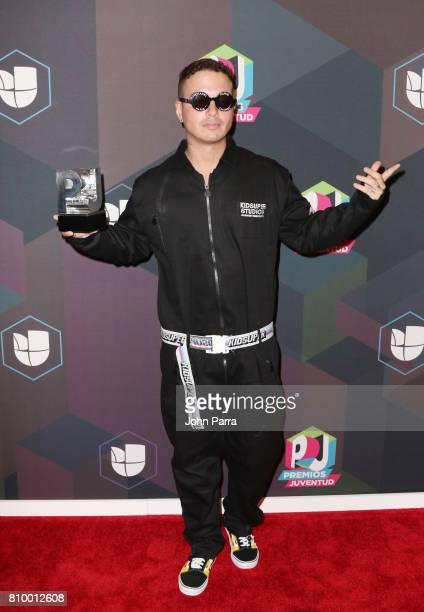 Balvin attends the Univision's 'Premios Juventud' 2017 Celebrates The Hottest Musical Artists And Young Latinos ChangeMakers Media Center at the...