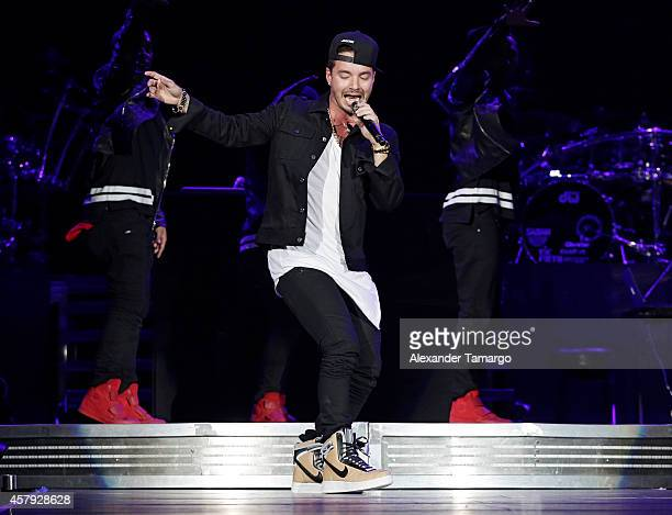 Balvin performs at American Airlines Arena on October 26 2014 in Miami Florida