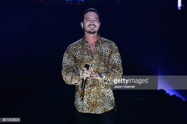 Balvin performs on stage at iHeartRadio Fiesta Latina at American Airlines Arena on November 5 2016 in Miami Florida