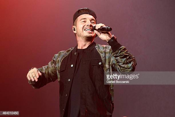 Balvin performs onstage at Allstate Arena on February 20 2015 in Rosemont Illinois