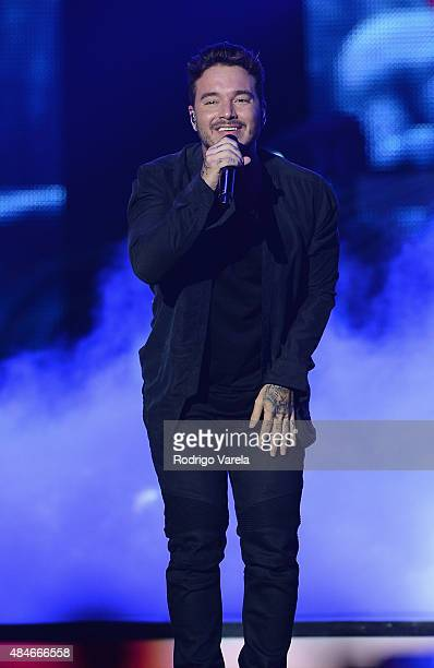 Balvin performs onstage at Telemundo's 'Premios Tu Mundo' Awards 2015 at American Airlines Arena on August 20 2015 in Miami Florida