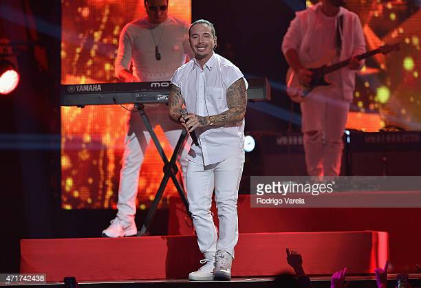 Balvin performs onstage at the 2015 Billboard Latin Music Awards presented bu State Farm on Telemundo at Bank United Center on April 30 2015 in Miami...