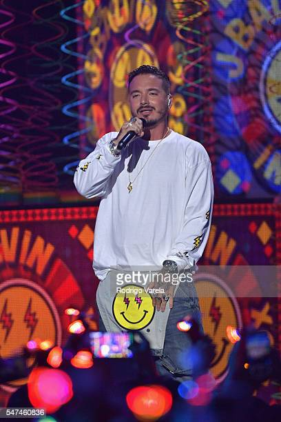 Balvin performs onstage at the Univision's 13th Edition Of Premios Juventud Youth Awards at Bank United Center on July 14 2016 in Miami Florida