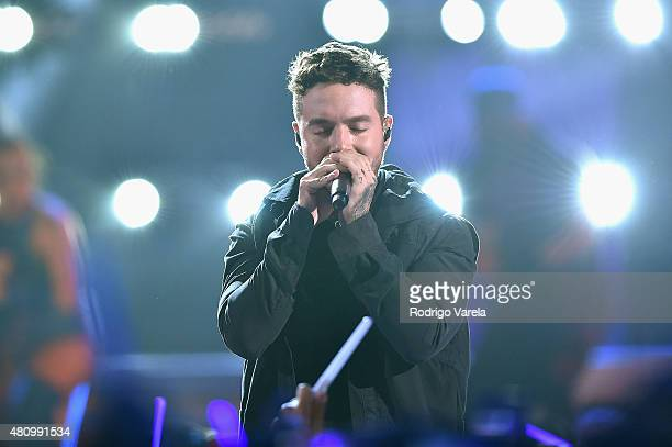 Balvin performs onstage at Univision's Premios Juventud 2015 at Bank United Center on July 16 2015 in Miami Florida