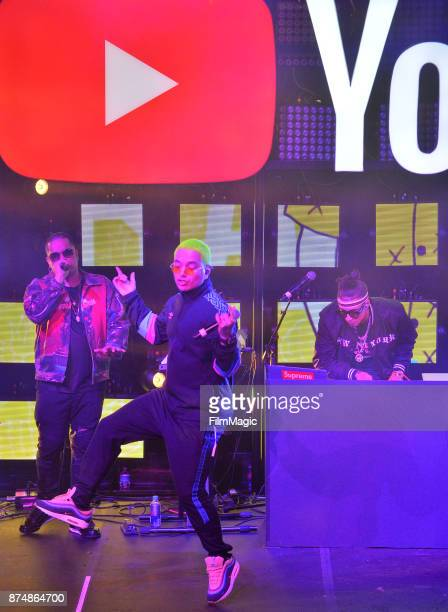 Balvin performs onstage at YouTube Musica sin fronteras A Celebration of Latin Music at Jewel Nightclub at the Aria Resort Casino on November 15 2017...