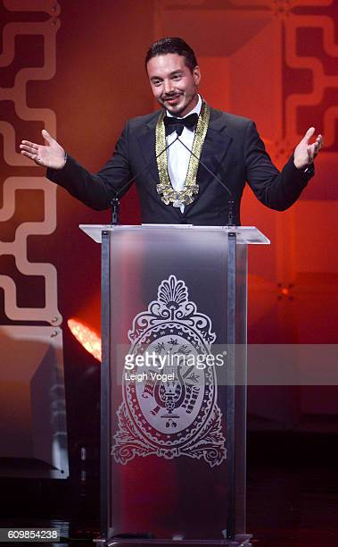 Balvin receives a Vision Award during the 29th Hispanic Heritage Awards at the Warner Theatre on September 22 2016 in Washington DC