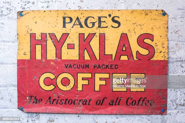 Balzac's Coffee Roasters interior details Page's HyKlas Coffee sign decorating the shop interior The coffee shop is located in the Distillery...