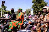 Bamako Mali Motorists stopped at a intersection in Bamako Mali on Tuesday November 24 2015
