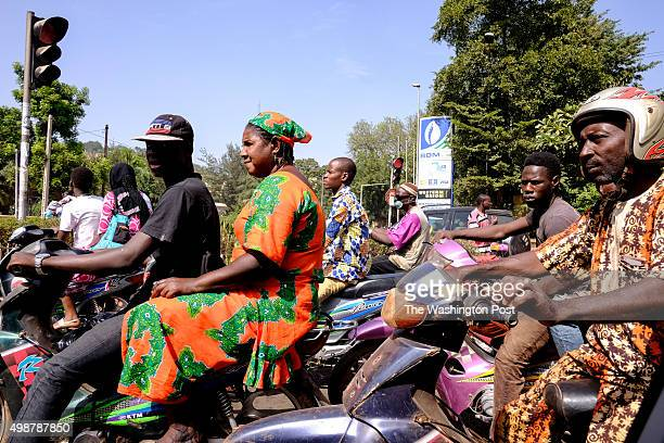 Bamako Mali Motorists stopped at a intersection in Bamako Mali on Tuesday November 24 2015