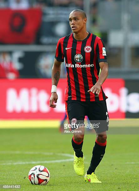 Bamba Anderson of Frankfurt controles the ball during the Bundesliga match between Eintracht Frankfurt and FC Augsburg at CommerzbankArena on...