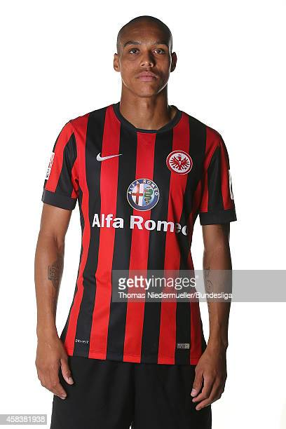Bamba Anderson of Frankfurt poses during the team presentation at CommerzbankArena on July 29 2014 in Frankfurt am Main Germany